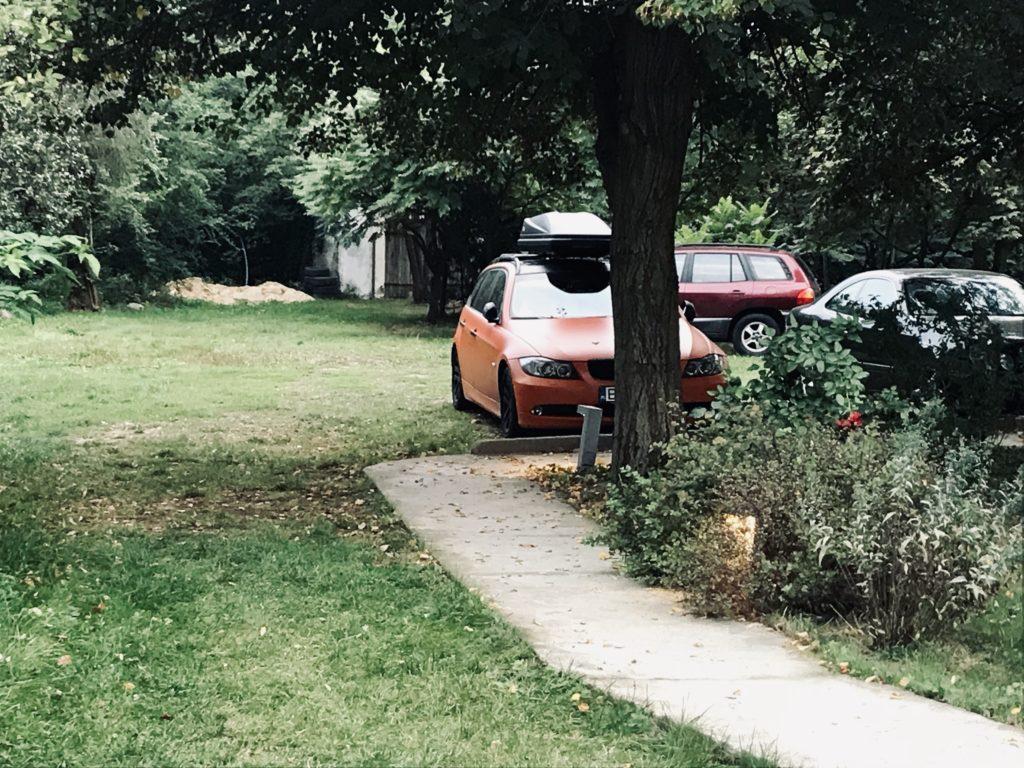 BMW E91, Pomarańczowa, box