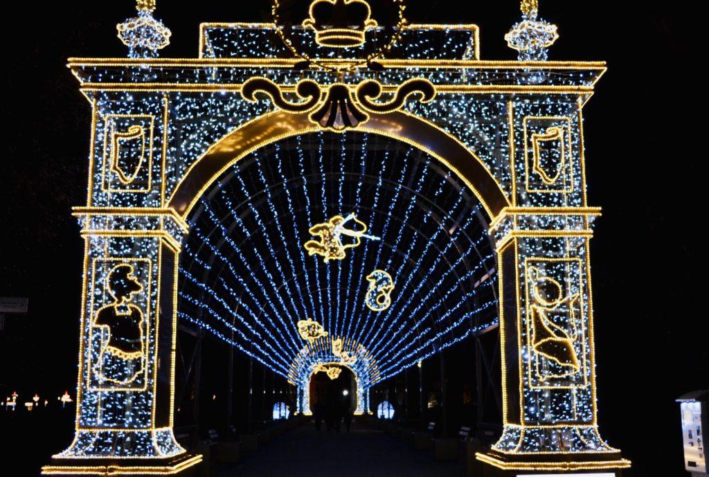 Królewski Ogród Światła, Wilanów, wejście